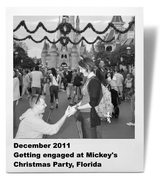Getting engaged at Disneyland