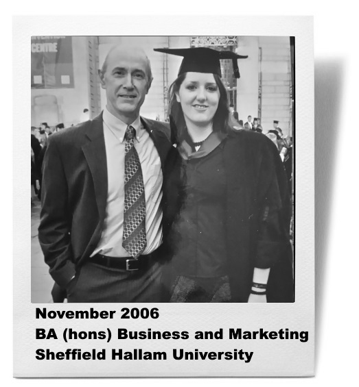 Graduating with a BA (hons) in business and marketing