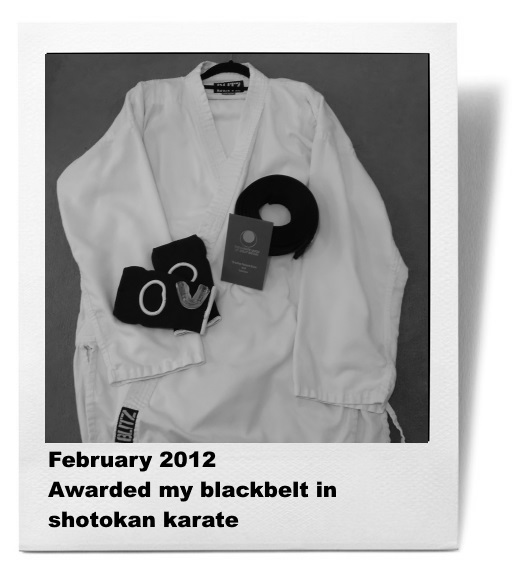Awarded my shodan in shotokan karate