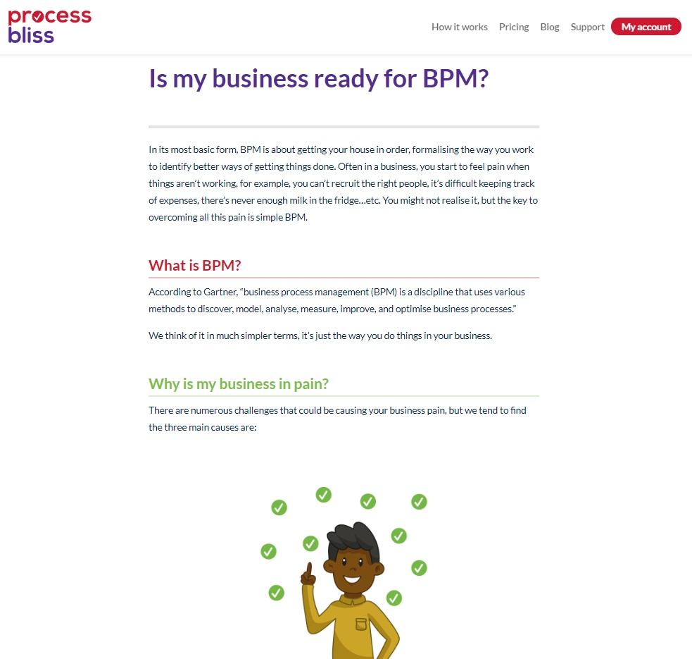Case study: Process Bliss - blogging 1