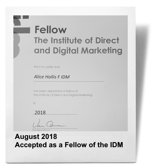 About Alice: Fellow of the IDM