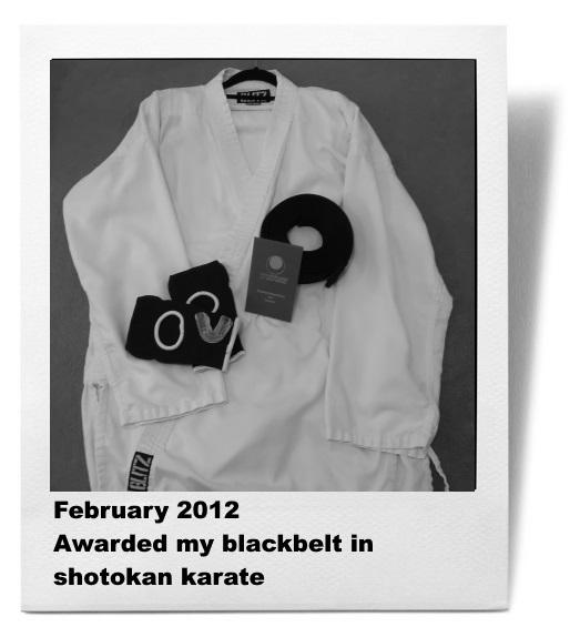 About Alice: Awarded my shodan in shotokan karate